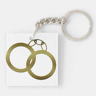 Golden Handcuffs Keychain