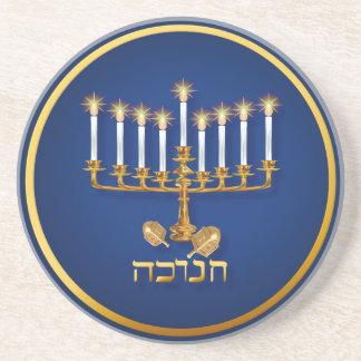 Golden Hanukkah Coasters