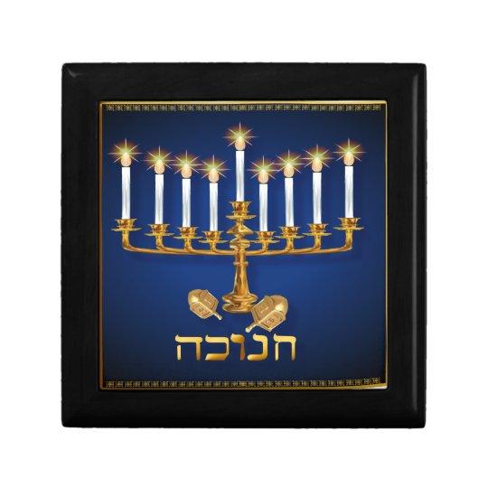 Golden Hanukkah Gift Boxes