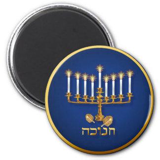 Golden Hanukkah Magnets