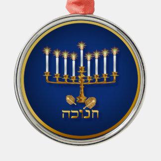 Golden Hanukkah  Ornament