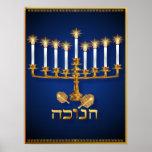 Golden Hanukkah Poster