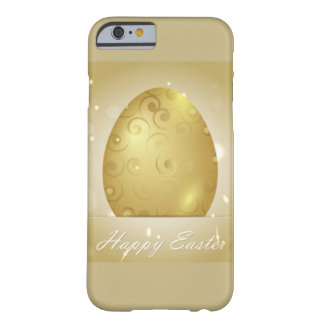 Golden Happy Easter Egg Design Barely There iPhone 6 Case