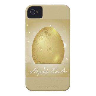 Golden Happy Easter Egg Design iPhone 4 Case