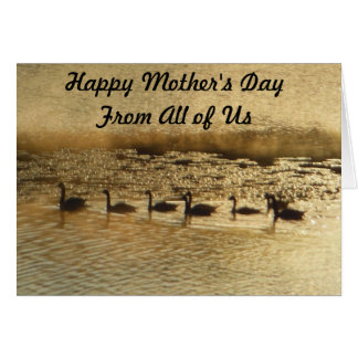 Golden Happy Mother's Day Greeting Card