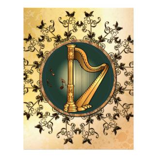 Golden harp letterhead