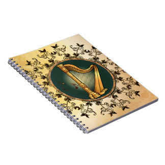 Golden harp spiral notebooks