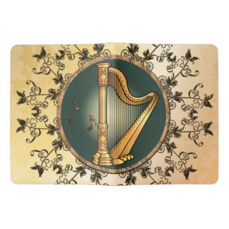 Golden harp extra large moleskine notebook cover with notebook
