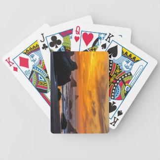 Golden Harris Beach Sunset - Oregon Bicycle Playing Cards