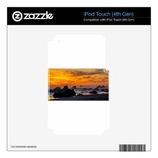 Golden Harris Beach Sunset - Oregon iPod Touch 4G Decals