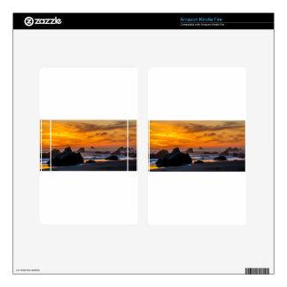 Golden Harris Beach Sunset - Oregon Kindle Fire Decal