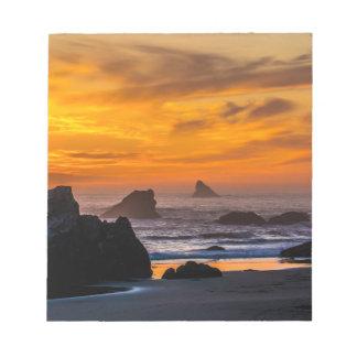 Golden Harris Beach Sunset - Oregon Notepad