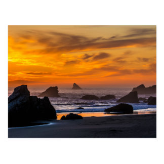 Golden Harris Beach Sunset - Oregon Postcard