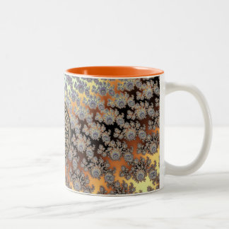 Golden Harvest Fractal Pattern Set Two-Tone Coffee Mug