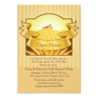 Golden Harvest Invitation