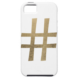 Golden Hashtag iPhone SE/5/5s Case