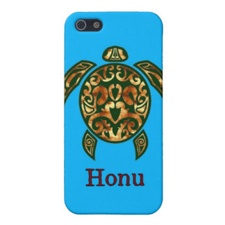 Golden Hawaiian Green Sea Turtle on Ocean Blue iPhone SE/5/5s Cover