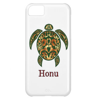 Golden Hawaiian Green Sea Turtle on White iPhone 5C Cover