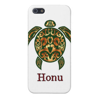 Golden Hawaiian Green Sea Turtle on White Cover For iPhone SE/5/5s
