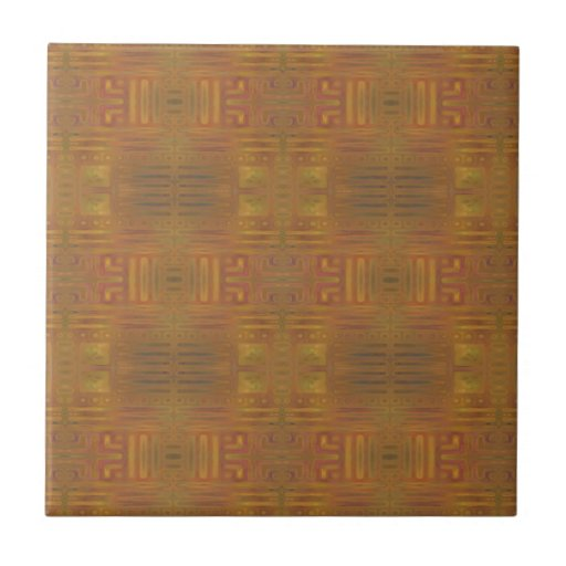 Golden Haze Abstract Tile