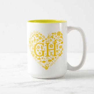 Golden Heart 20 Year Class Reunion Logo Mug