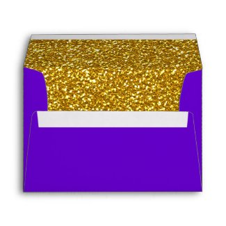 Golden Heart and Purple Envelope