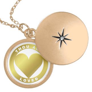 Golden Heart Award - When Atlas Shirked Gold Plated Necklace