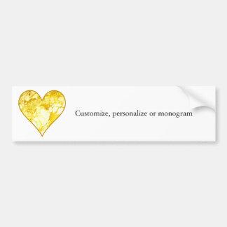Golden Heart Bumper Sticker