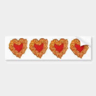 Golden Heart Car Bumper Sticker