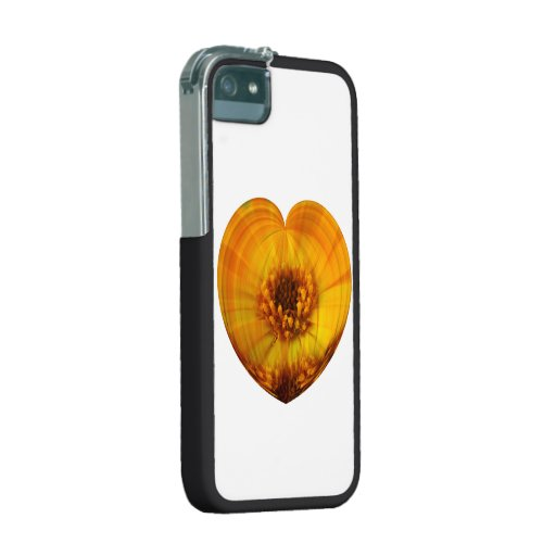 Golden Heart iPhone 5 Covers