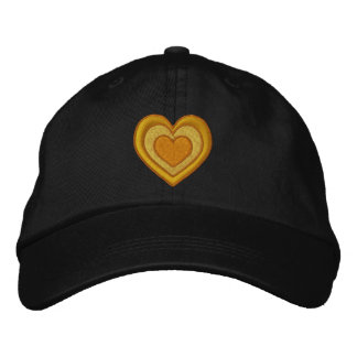 Golden Heart Embroidered Hat