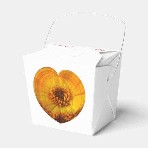 Golden Heart Party Favor Boxes
