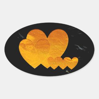 Golden Heart Gifts Oval Sticker