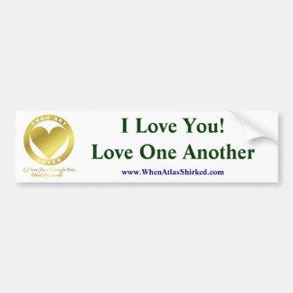 Golden Heart - I Love You, Love One Another Bumper Sticker