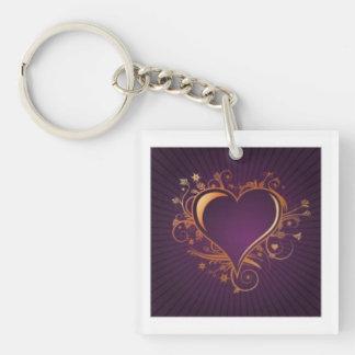Golden Heart Keychain