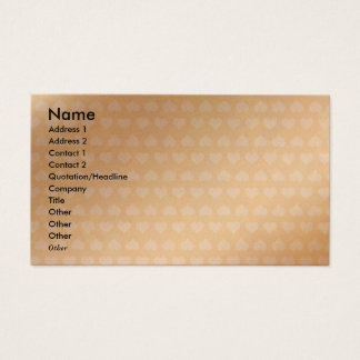 Golden Heart : Love Sticker Breaker Visio Business Card