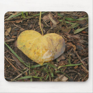 golden heart mouse pad