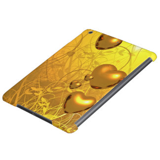 Golden heart pattern case for iPad air