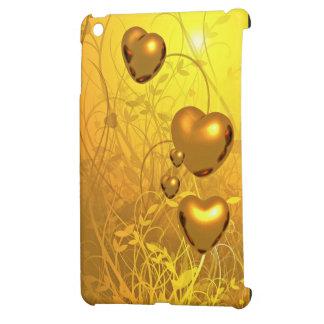 Golden heart pattern case for the iPad mini