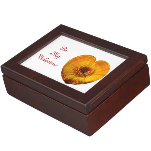 Golden Heart Keepsake Box