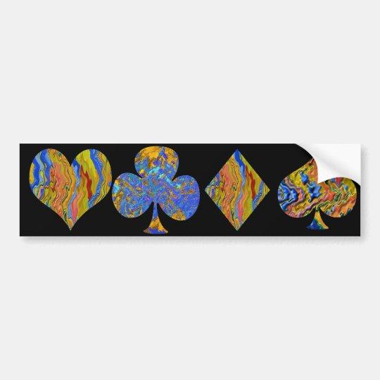 Golden Heart  - Poker Champion 2 Bumper Sticker