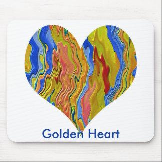 Golden Heart  - Poker Champion Mouse Pad