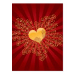 Golden Heart Post Card