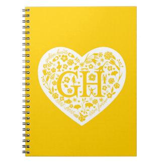 Golden Heart Reunion Logo Spiral Notebook