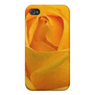 Golden Heart Rose Cover For iPhone 4