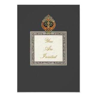 Golden Heart Wedding Invitations