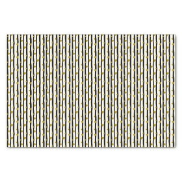 Professional Business Golden Hearts And Black Stripes Tissue Paper
