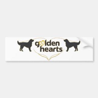 Golden Hearts Bumper Sticker