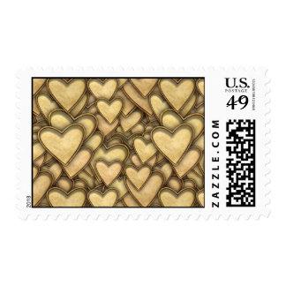 Golden Hearts Everywhere Stamp