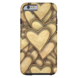 Golden Hearts Everywhere Tough iPhone 6 Case